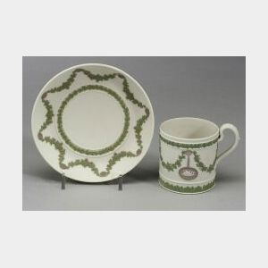 Wedgwood Three Color Jasper Coffee Can and Saucer