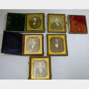 Five Daguerreotype Portraits of Young Men