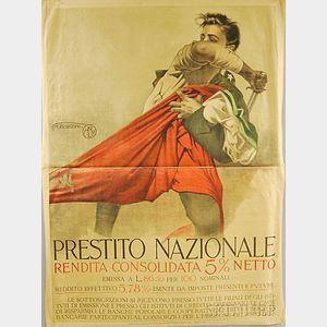 Italian Prestito Nazionale   WWI Lithograph Poster