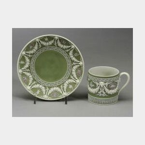 Wedgwood Three Color Jasper Dip Coffee Can and Saucer