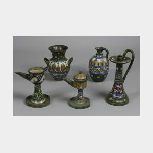 Five Gouda Pottery Pieces