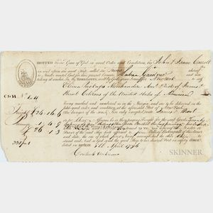 Bill of Lading for the Slave Ship Juno