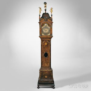 Roger Dunster Burl Walnut Eight-day Musical Clock with Alarm
