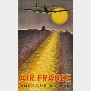 Victor Vasarely (Hungarian/French, 1908-1997)      Air France/Amérique du Sud