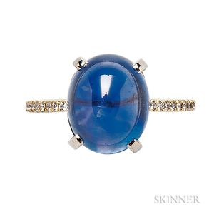 18kt Gold, Sapphire, and Diamond Ring, Carvin French