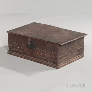 Carved Oak Bible Box