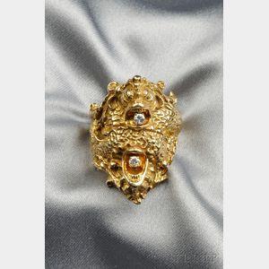 14kt Gold Serpent Ring