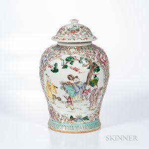 Enameled Temple Jar