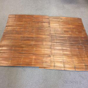 Seven Thai Bamboo Floor Mats.