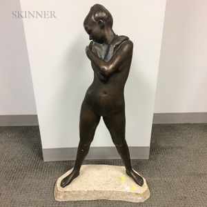 Robert Cook (American, 1921-2017)    Standing Female Nude