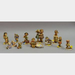 Approximately Twelve Hummel/Goebel Figural Pieces.