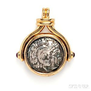 "18kt Gold and Ancient Coin ""Monete"" Pendant, Bulgari"