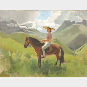 Joseph Inguimberty (1896-1971), Portrait of Alix Ayme on Horseback