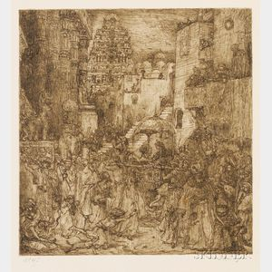 Marius Bauer (Dutch, 1867-1932)      Lot of Three Middle Eastern Views.
