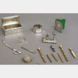 Fifteen Small Assorted Mostly Silver Objects