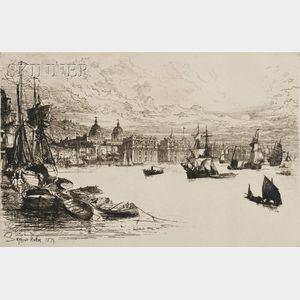 Sir Francis Seymour Haden (British, 1818-1910)      Greenwich