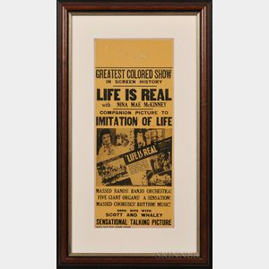 """Life is Real"" Framed Movie Poster"