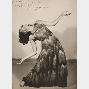 Sixteen Photographs of Mary Wigman (German, 1886-1973), Fifteen Photographs by Charlotte Rudolph (German, 1896-1983) and One Autographe