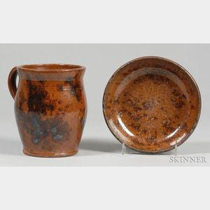 Redware Jar and Bowl