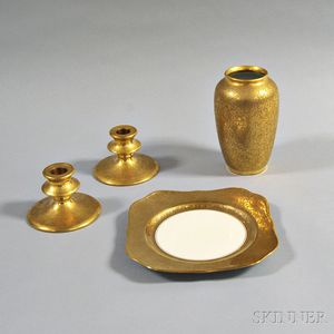 Four Pieces of Gilt Porcelain