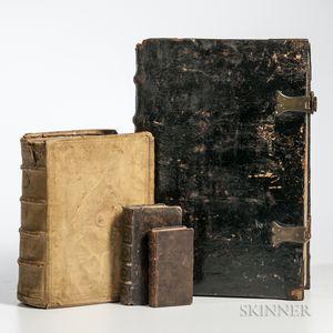 Concordantiae Bibliorum  , Paris: Sonnium, 1611, and Three Other Early Books.