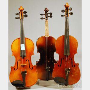 Three Childs German Violins.