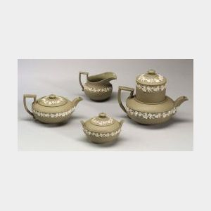 Four Wedgwood Drabware Items