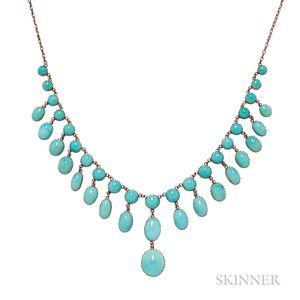 Art Nouveau Turquoise Necklace