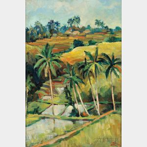Hans Snel (1925-1998), Balinese Landscape