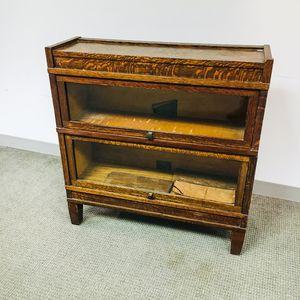 Globe-Wernicke Glazed Oak Two-stack Barrister Bookcase
