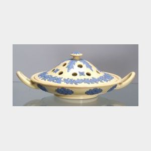 Wedgwood Smear Glazed Caneware Potpourri and Cover