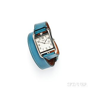 "Stainless Steel ""Cape Cod"" Wristwatch, Hermes"