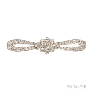 Edwardian Diamond Bow Brooch