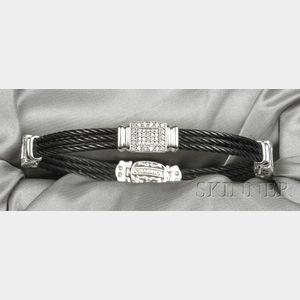 """18kt White Gold and Diamond """"Celtic"""" Bracelet, Charriol"""