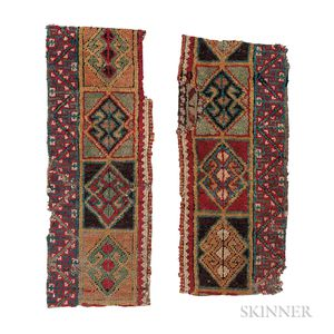 Pair of Central Anatolian Rug Fragments