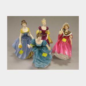Four Royal Doulton Ceramic Figures