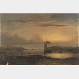 Sold for: $5,506,000 - Fitz Hugh Lane (American, 1804-1865)  Manchester Harbor