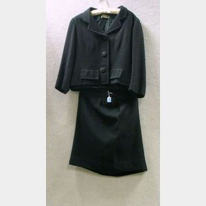 Balenciaga Black Wool Two-Piece Suit