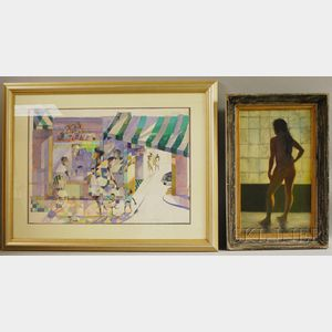 American/Caribbean School, 20th Century      Five Works:   Laurent Casimir (Haitian, 20th Century), Two Figures Dancing