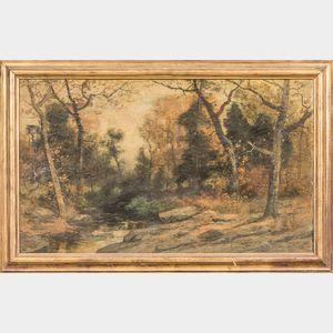 Christopher High Shearer (American, 1840-1926)      Forested Landscape