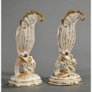 Two Similar Union Porcelain Frog Vases