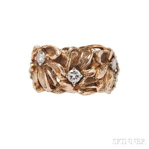 Gold and Diamond Floral Band
