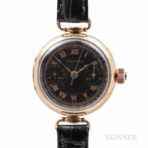 Tiffany & Co. 18kt Gold Monopusher Chronograph Wristwatch