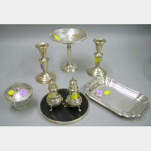 Group of Sterling and Silver Plated Table Articles