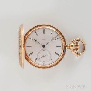 Paul Breton 18kt Gold and Enameled Hunter-case Watch