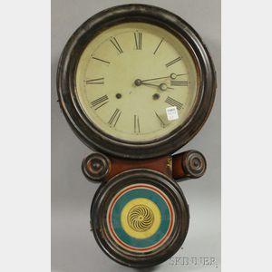 Ingraham Ionic Rosewood Wall Clock