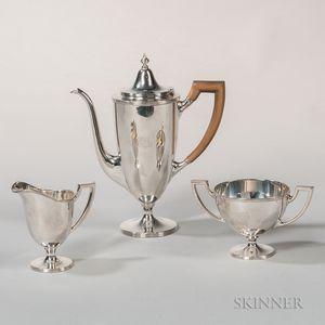 Three-piece Tiffany & Co. Sterling Silver Coffee Service