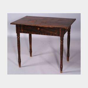 Grain-Painted Poplar Table
