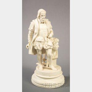Parian Figure of Michelangelo