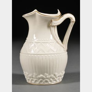 Belleek Porcelain Harp Jug